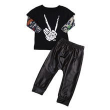 2PCS Newborn Infant Kids Baby Boy T-shirt Tops Pants Outfits Clothes Set Toddler Boys Casual Cool Clothing Set Playsuits