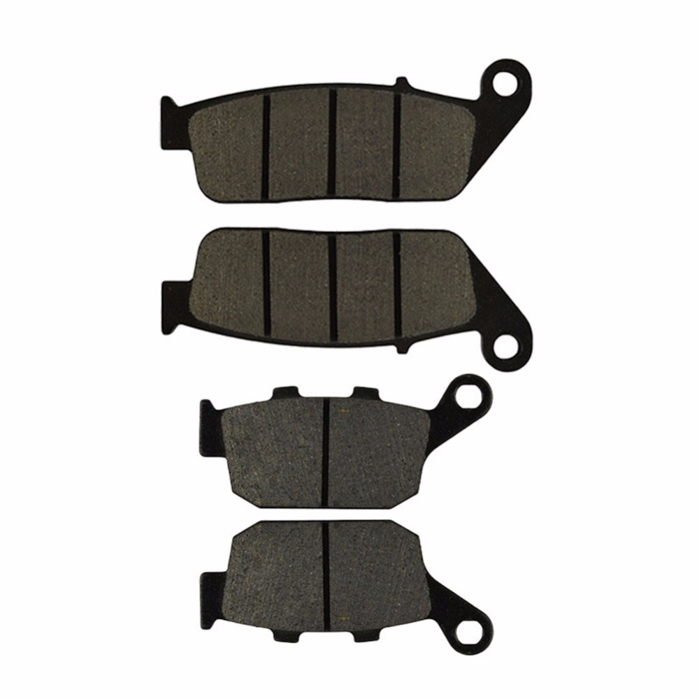 Motorcycle Front and Rear Brake Pads for BUELL BLAST (2000-2007) Black Brake Disc Pad motorcycle front and rear brake pads for honda gl1500 gl1500se gl1500l goldwing gl1500 se l 1990 2000 black brake disc pad set