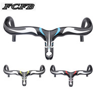 FCFB FW Carbon Road Handlebar Racing Road Bike Handlebar Bicycle Carbon Integral Handlebar Size 400