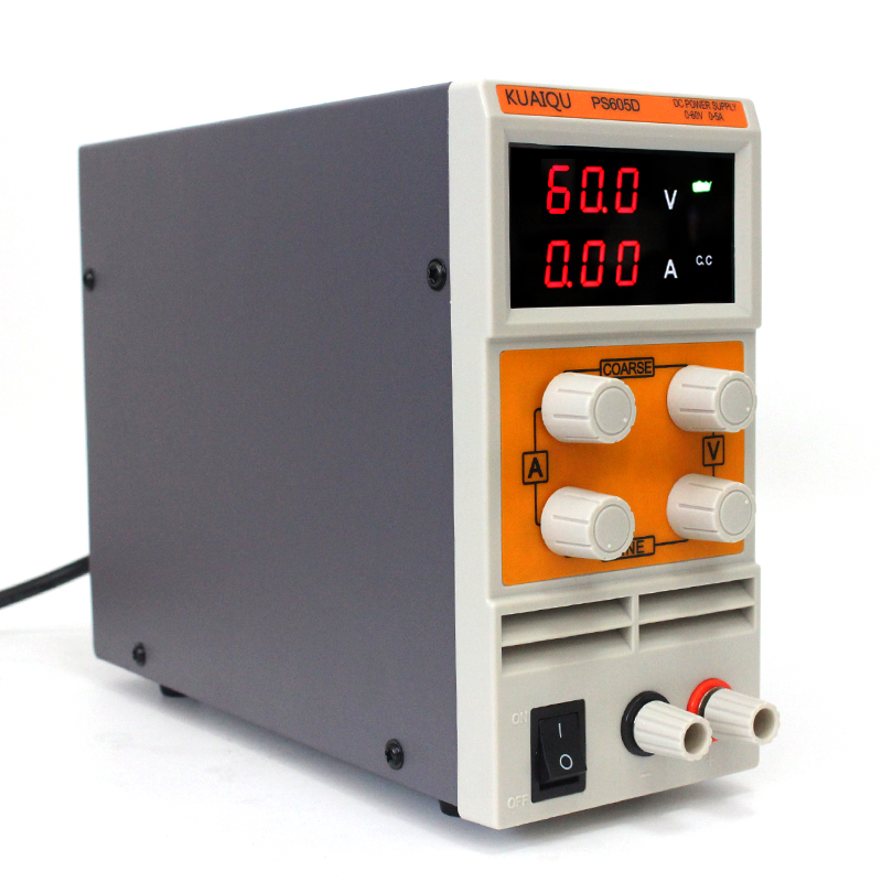 Digital Display Switching DC Power Supply 0 60V 5A 0 001A 0 01V Portable Controllable Stable