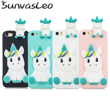 For iPhone 6 6s 6Plus 6sPlus 7 7Plus 8 8Plus 3D Cartoon Animal Soft Silicone Case Phone Cover Skin Shell For iPhone 5 5s 5C SE