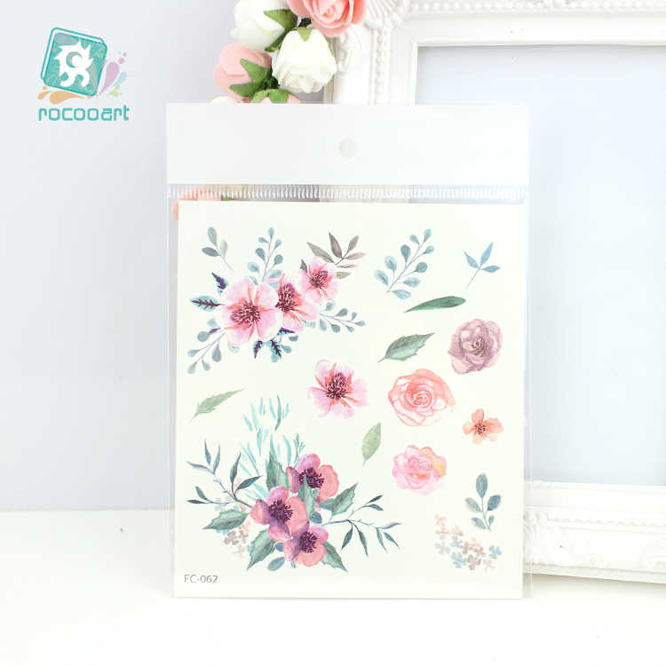 6e762525126c6 ... Rocooart Latest FC Series 2019 Beauty Water Color Tattoo Various  patterns of flower tattoo Body Temporary
