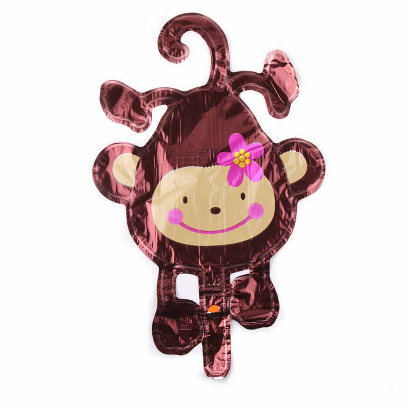 GOGO PAITY Nhôm balloon bóng miệng khỉ phim hoạt hình động vật treo khỉ bé sinh nhật đồ chơi trẻ em bóng hình
