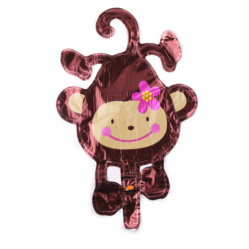 GOGO PAITY boca macaco balão De Alumínio bola balão balão em forma animal dos desenhos animados do macaco pendurado brinquedo de criança aniversário do bebê
