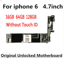 100 Original unlocked for iphone 6 font b Motherboard b font With Touch ID without Touch