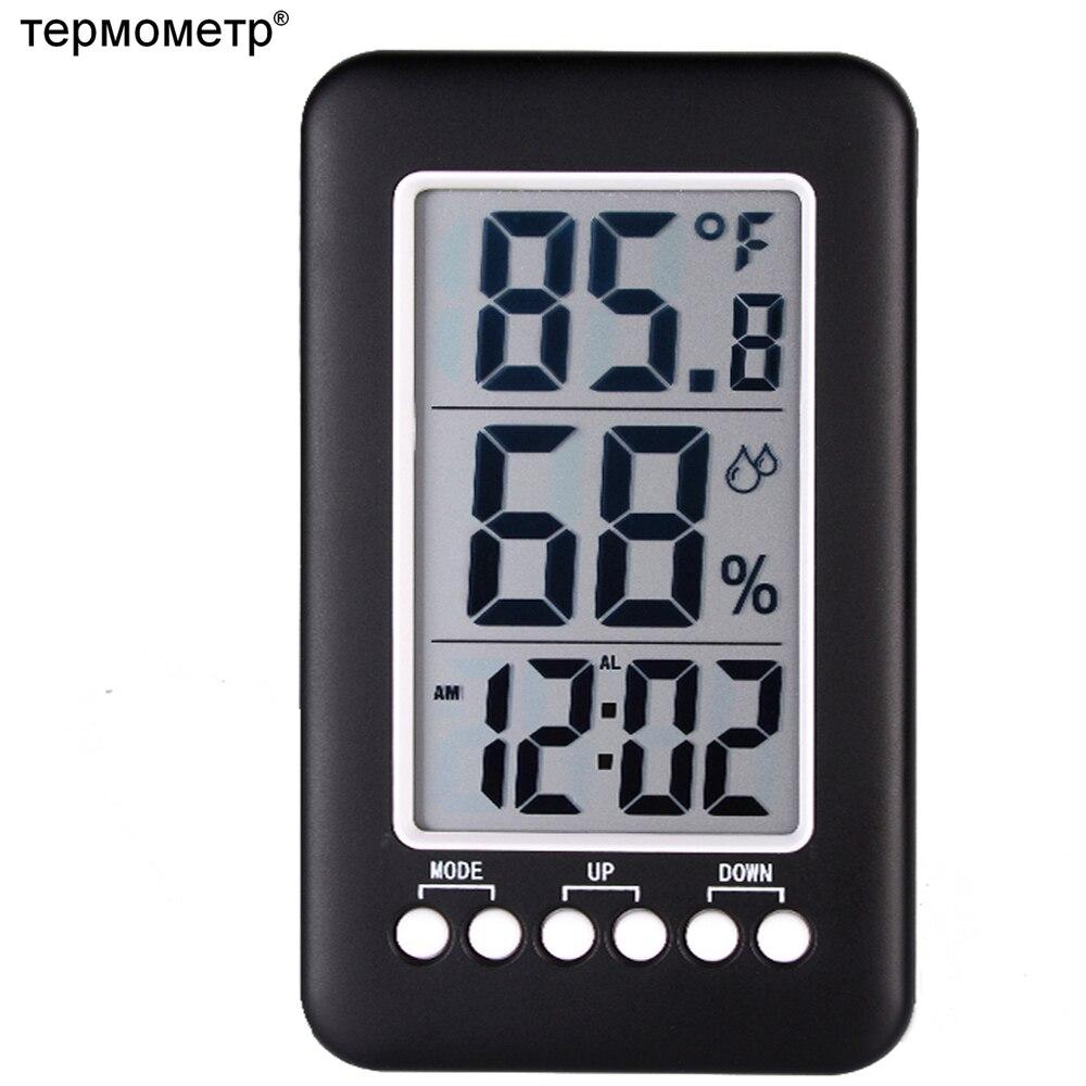 Grand ÉCRAN LCD Numérique Thermomètre Température Instruments Humidité Hygromètre Bureau Table Réveil Humidité Capteur Station Météo