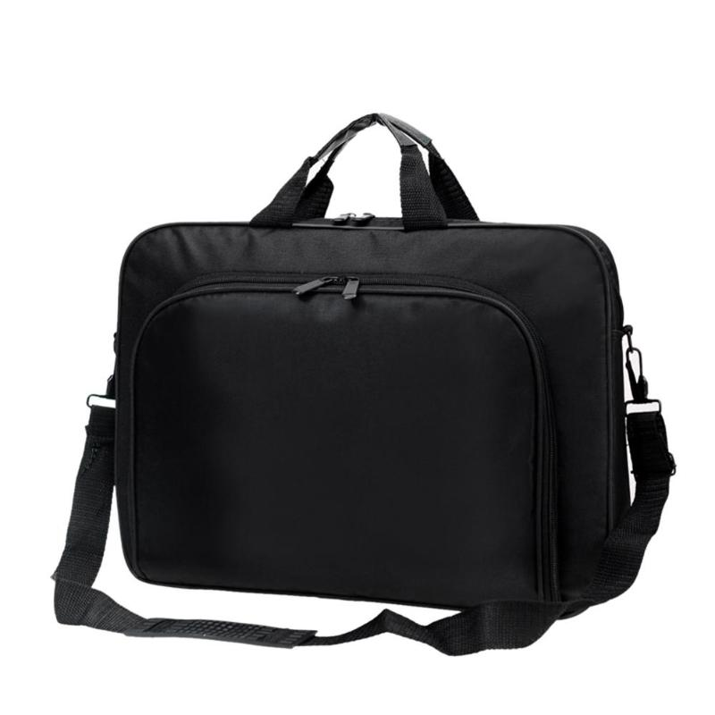Briefcase Totes Computer-Handbags Laptop Business Shoulder Nylon Office Black Portable