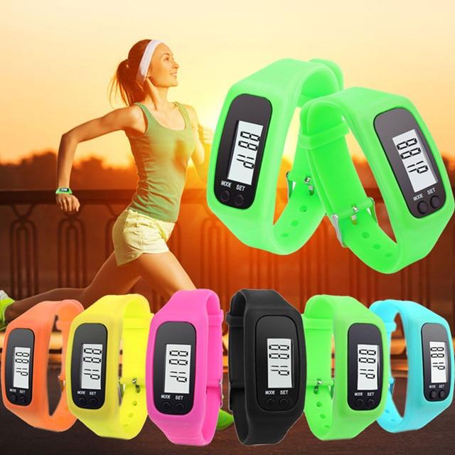 Women Men Sport Watch Digital LCD Pedometer Watch Run Jogging Outdoor Step Walki