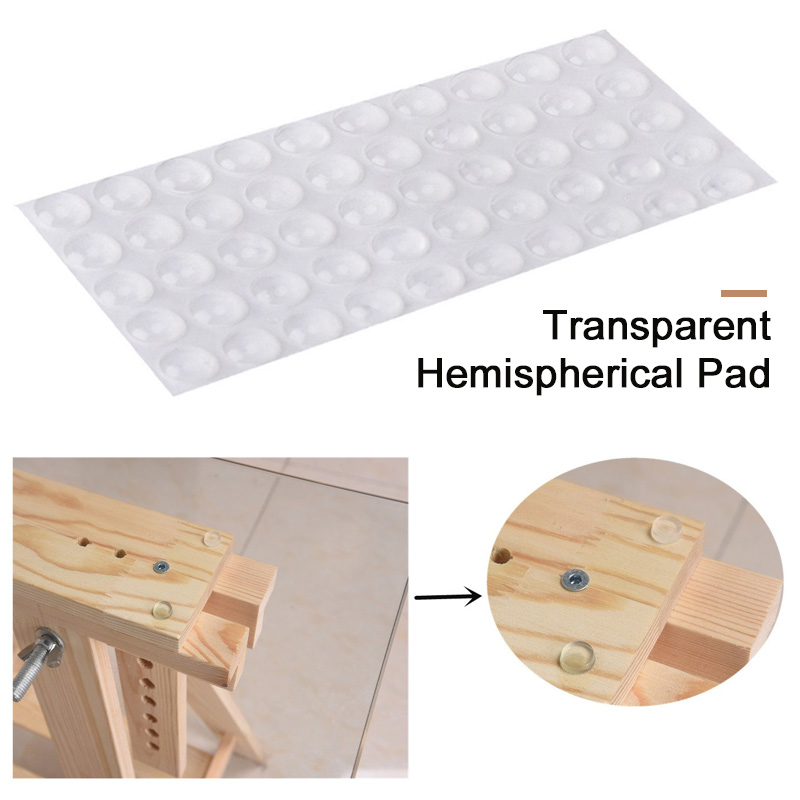50pcs Rubber Bumper Damper Self Adhesive Rubber Feet Pads Multi-Function Hemispherical Shape Convenient Door Anti Slip