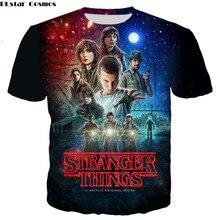 PLstar Cosmos Hip Hop Stranger Things 3d Digital Print T shirts Men Tee Character shirt Short Sleeve T-shirt Male Summer Top