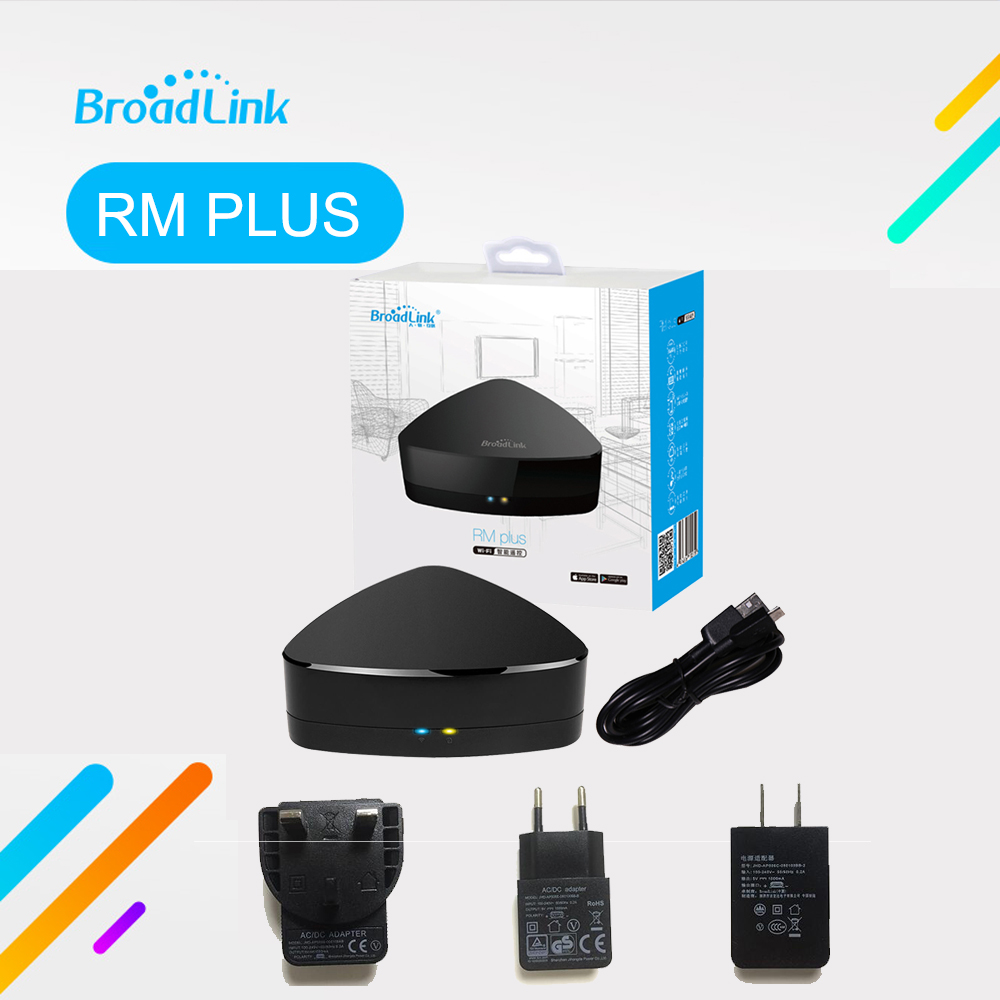 Broadlink RM Plus RM07 Smart Home Automation Controller Housing Remote RF Projector Light Switch IR TV Set Top Box free shipping 2017 broadlink rm pro rm03 smart home automation wifi ir rf universal intelligent remote control switch for