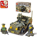 Building block sets compatible con lego pasatiempos educativo militar doble pistola suv 3d de construcción de ladrillo juguetes para los niños