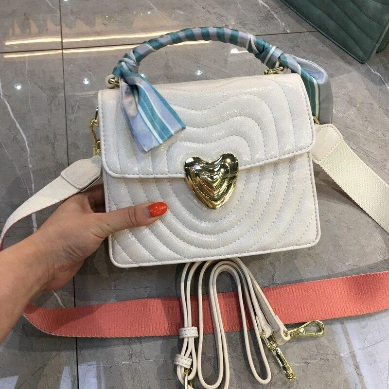 8 couleurs mode femmes sac à main et sacs à main treillis large sangle épaule Messenger sacs Bolsa Feminina
