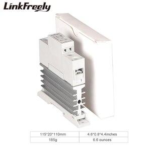 Image 5 - TRA48D25L 25A Photoresistor חום כיור SSR מצב מוצק ממסר מסילת Din DC AC 5V 12V 24V 32VDC קלט 42 480VAC פלט כוח ממסר