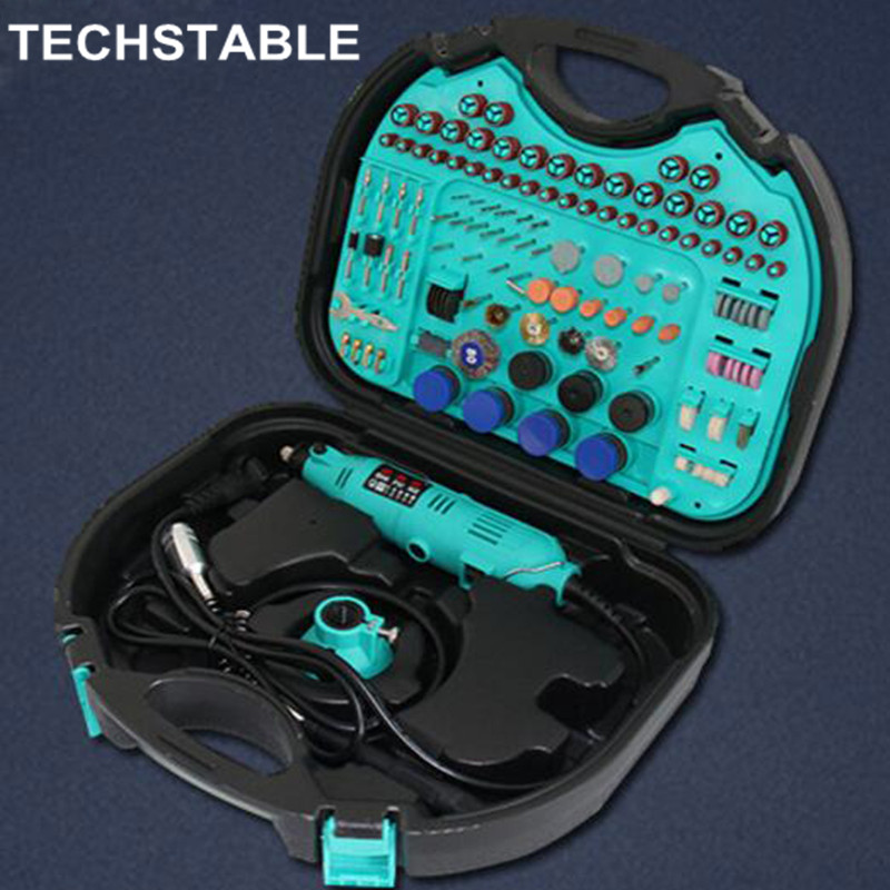 TECHSTABLE 130w 350-I Kit Combination Tool Electric Grinder Suit Small Jade Carving Machine Polishing Machine Grinding Machine