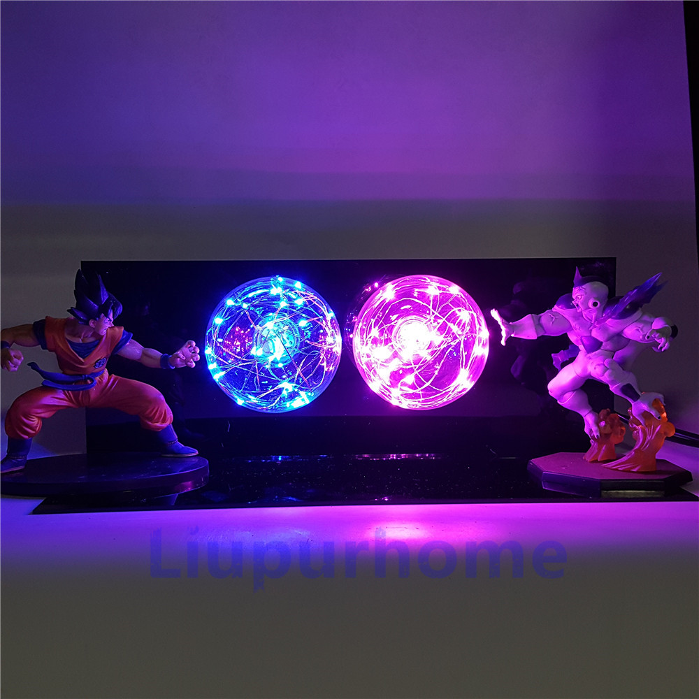 Dragon Ball Z Son Goku VS Freezer Lamparas LED Luci notturne anime Dragon Ball Super Figurine Giocattoli Per Bambini Dbz FAI DA TE LUCE lampada da tavolo - 4