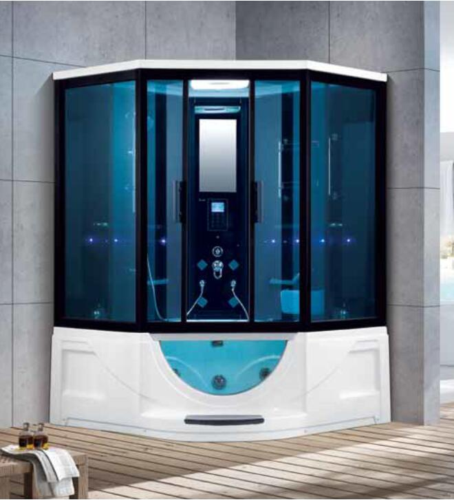 1500x1500x2200mm Double Person Bathroom Steam Shower Enclosure Mult-functional Computer Control Wet Sauna Room 7025 Strengthening Sinews And Bones