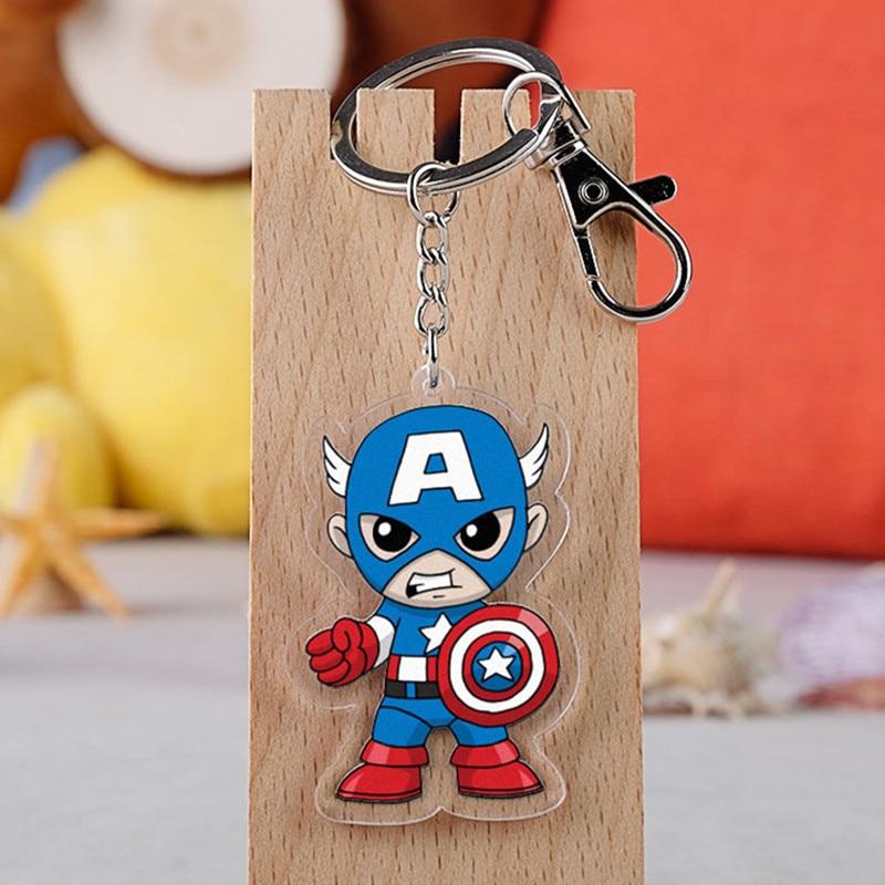 Movie First Avenger Captain America Steven Rogers Cartoon Car Keychain Holder Best Friend Graduation Chirstmas Day Gift