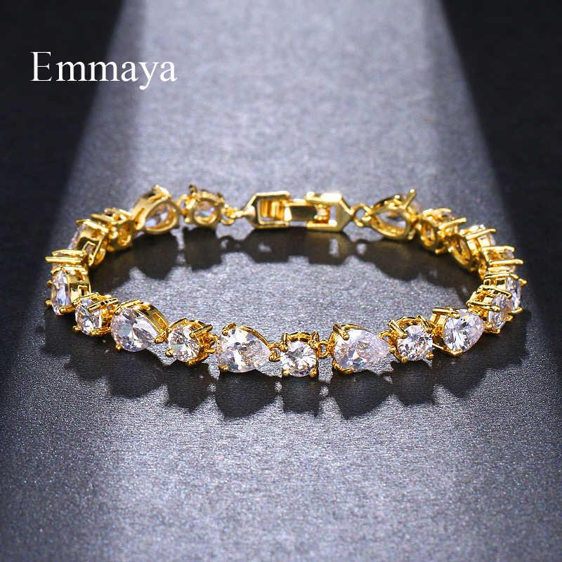 Emmaya לוקסוס AAA זירקון אלמנטים 3 צבעים האוסטרי קריסטל צמידי תכשיטים לנשים אהבת מתנת המפלגה