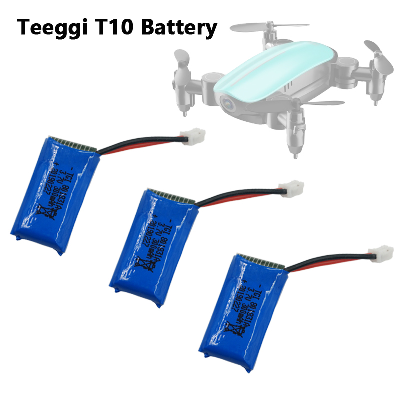 Teeggi T10 Mini Drone Accessories <font><b>3.7V</b></font> <font><b>300mAh</b></font> <font><b>Lipo</b></font> <font><b>Battery</b></font> For T10 RC Quadcopter Spare Parts Rechargeable <font><b>Battery</b></font> Replacement image