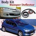 Deflector de Labios Lip Bumper Para Peugeot 206/Naza 206 Spoiler Delantero falda Para Labio Coche Coche Amigos Ver Tune/Kit de Carrocería/tira