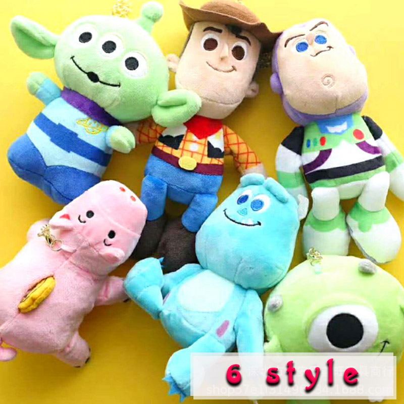 18cm Toy Story 4 Woody & Buzz Lightyear forky Ducky&Bunny Doll Soft Stuffed Kids Birthday Christmas Gifts Plush Toys for Childre