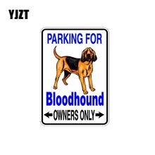 YJZT 10*14,2 см собака породы бладхаунд Светоотражающие Lnterest стикер автомобиля C1-4380