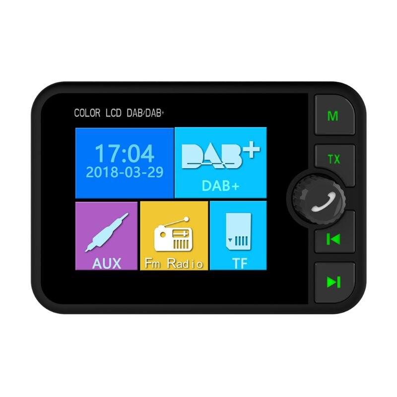 Bonne qualité nouveau coloré écran LCD Bluetooth Mini DAB numérique Radio récepteur adaptateur MP3 FM émetteur pour accessoires de voiture