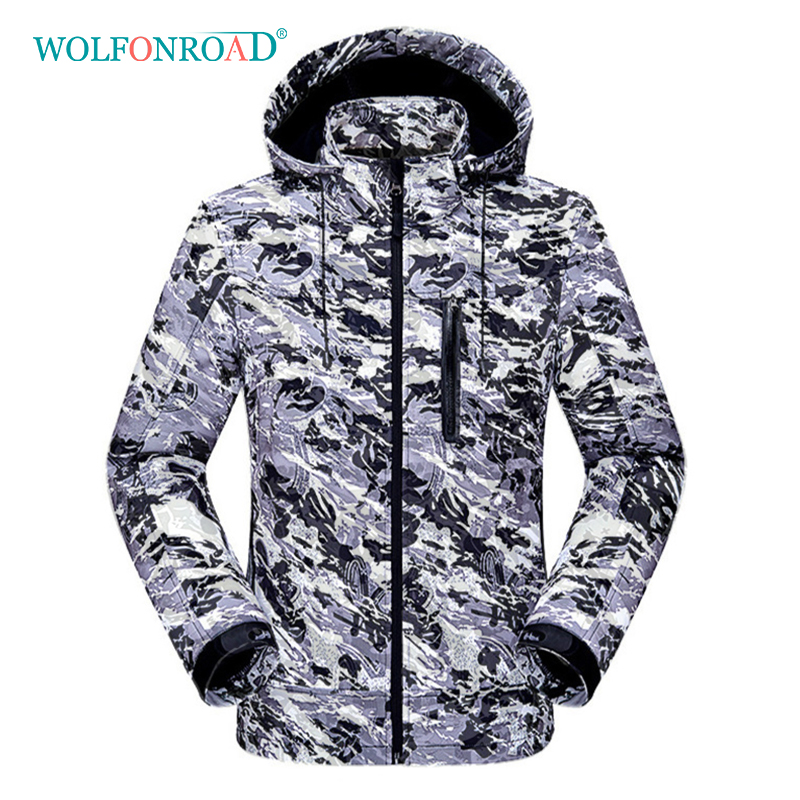 wolfonroad women 2 piece jackets waterproof outdoor sport thermal jacket coat winter hiking camping windbreaker mountain jackets WOLFONROAD Winter Softshell Jackets Men's Camping Hiking Jacket Camouflage Thin Fleece Coats Mountain Outdoor Sport Windbreaker