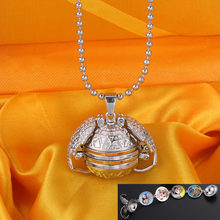 Angel Wings guardian box pendant bright silver phase box locket can put 4 pictures to send gifts for lovers(China)