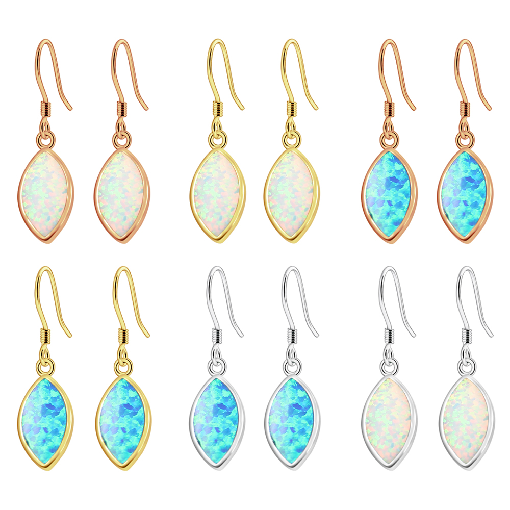 65% OFF 925 Sterling Silver Australian Opal Women Jewelry Elegant Dangle Earring ESCZ2357 Free Shipping