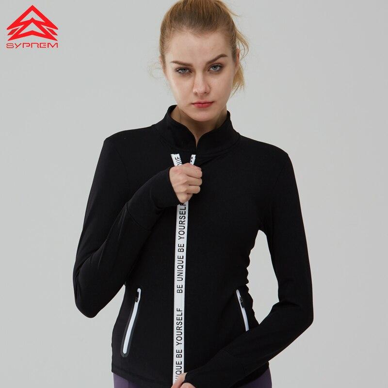 Syprem running Jacket Sportswear yoga women Training Exercise breathable Jackets sports coat fitness workout jacket,1FT1041