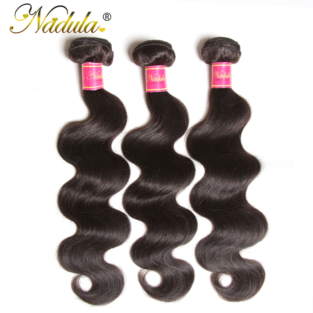 Nadula Hair 3 Bundles/4pc/Lot  Body Wave Hair s 8-30inch  Hair s 100%    3