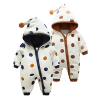 Children Baby Hoodie Warm Clothes Fashion Long Sleeved Rompers Boys Girls Spring Autumn Cotton Outwear Newborn Cute Jumpsuit