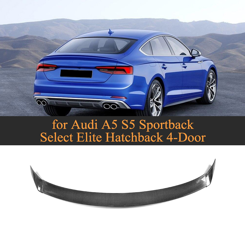 Carbon Fiber Rear Trunk Spoiler Lip Wing For Audi A5 S5