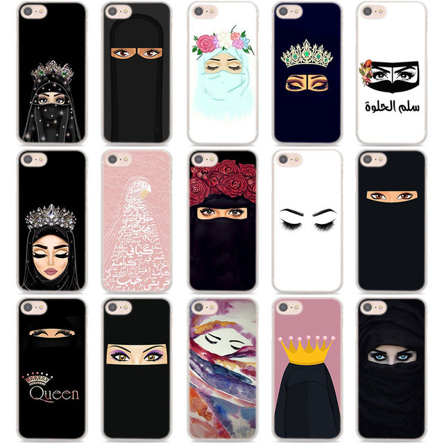 newest collection b8aff c212d US $1.99 26% OFF|Muslim Islamic Gril Eyes Arabic Hijab Girl Phone Cases  cover for Apple iPhone 7 8 6 6S Plus SE 5S X XR XS MAX Protector Hard  cov-in ...