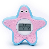 Led Display Baby Kid starfish Water Shower Thermometer LED Display Water Shower Thermometer Flow Water Temperture Monitor 2019