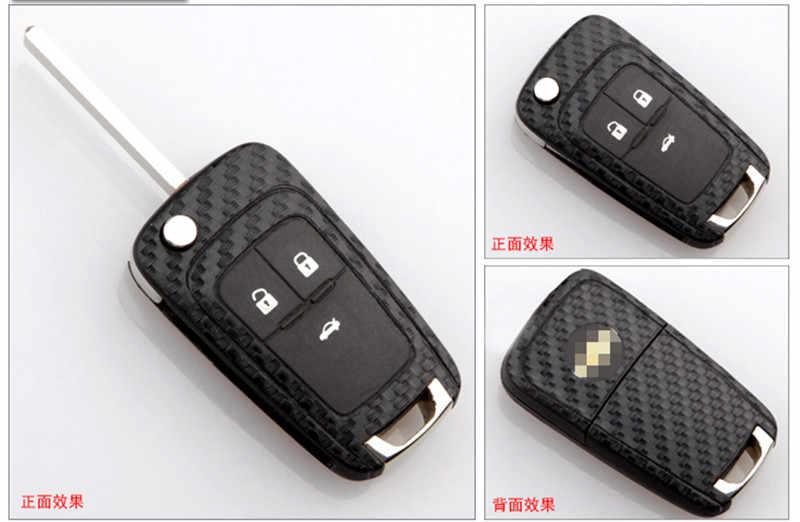 Xe ô tô điều khiển từ xa phím Ốp sợi carbon Miếng dán kính cường lực cho Buick ENCORE Excelle GT/XT/Opel VAUXHALL MOKKA zafira Astra