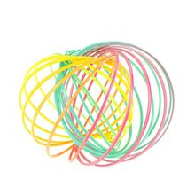 TOYZHIJIA Magic Flow ringToys Flow toy Rainbow Color Kinetic Spring Flow toys Anti Stress Flow rings Toys For Kids Adults(China)