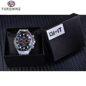 Image 5 - Forsining Fashion Men Watches Male Top Brand Auto Mechanical Watch Calendar Waterproof Sports Steel WristWatch Relogio Masculino