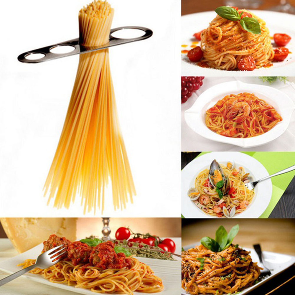 Stainless Steel Spaghetti Measure Tool 4 Serving Portion Control Cooking Tools Pasta Portion Control Gadgets image