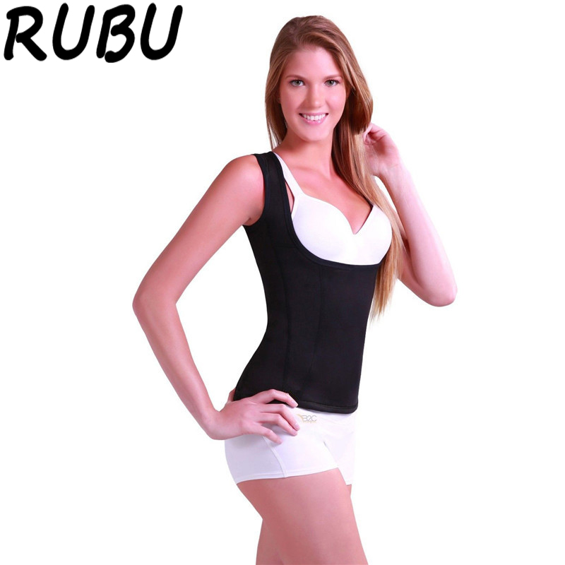 RUBU Women Neoprene Slimming Body Shaper Sweat Sauna Hot Shapers Sleeveless Tops Chest Waist Abdomen Trainer Bodysuit Corset 8AR