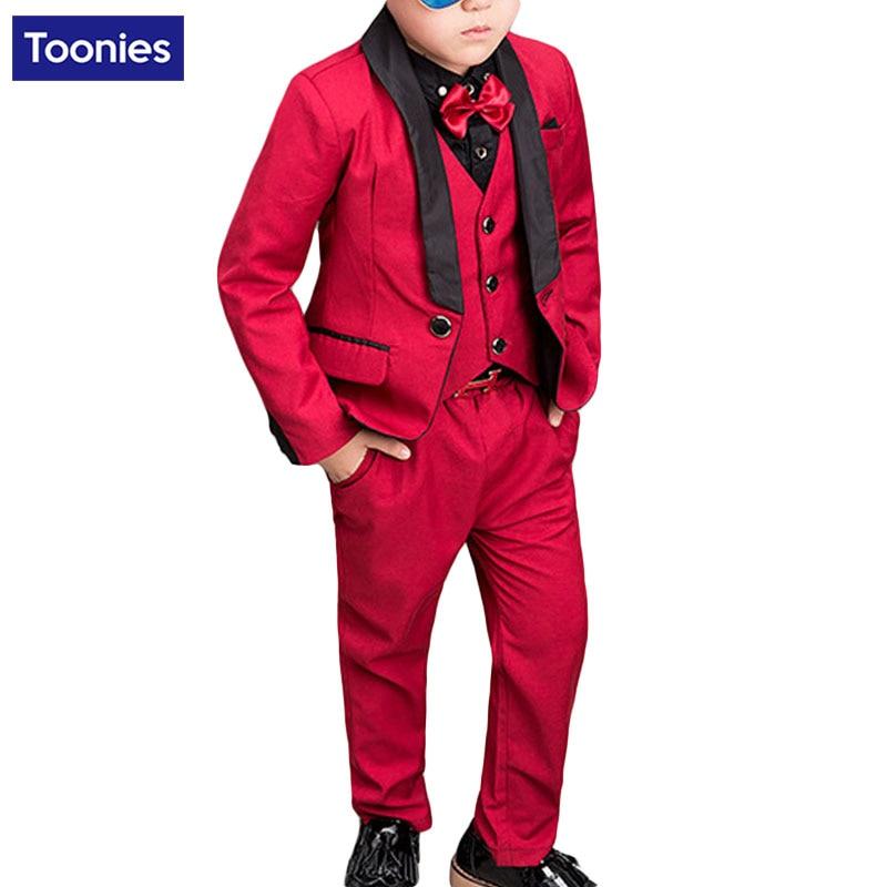 761831108d Best Boy Tuxedo Kid Formal Suits Boy Blazer Suit Set Children Blazer ...
