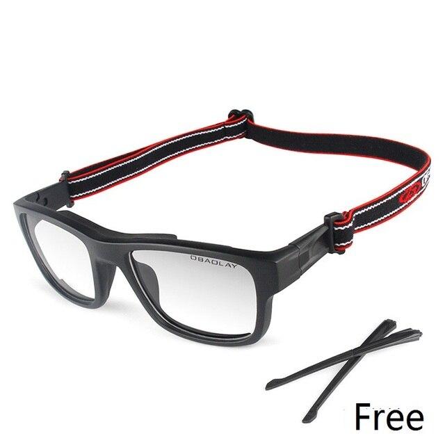 3d3c4480de Vazrobe TR90 deportes gafas de marco los hombres Correa + pierna  conduciendo al aire libre para baloncesto fútbol ojo proteger