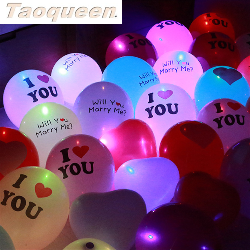 10pcs LED Balloon Light Ball Luminous Latex Nitrogen Balloons Halloween Decor Wedding Birthday Party Supplies Cartoon Hat