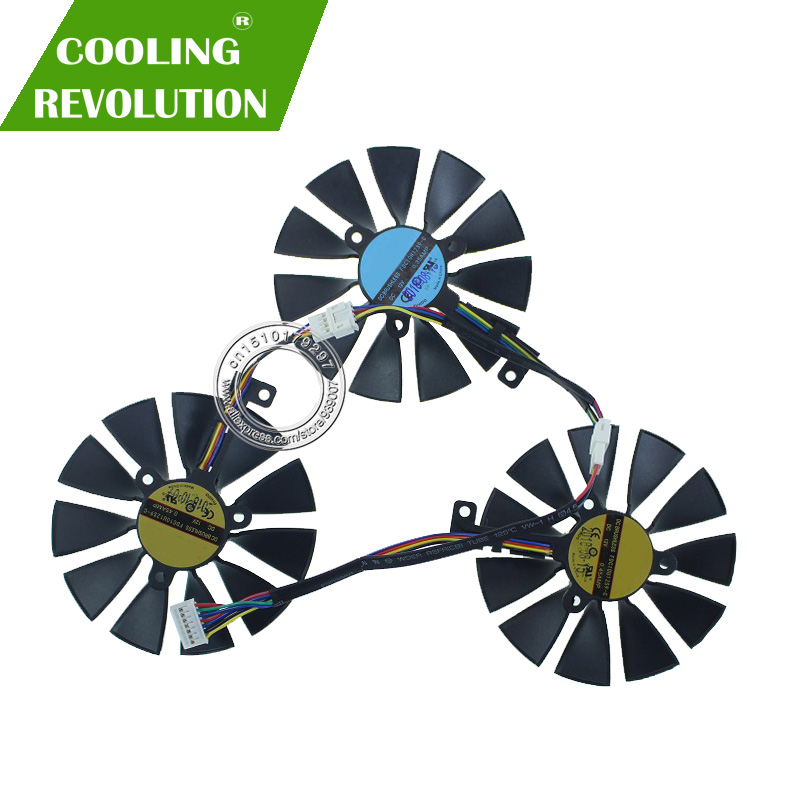FDC10U12S9-C DC12V 0.45AMP FDC10H12S9C DC12V  0.35AMP Graphics Card Cooling Fan 87mm For ASUS ROG STRIX RTX 2070 O8G GAMING