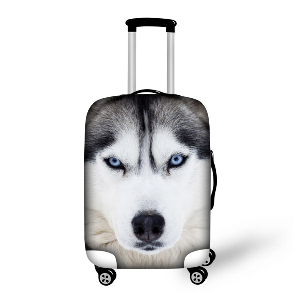 Huskies impresso tampas de proteção de bagagem Apple para 18 - 30 polegada mala Trolley à prova d ' água tecido Stretch elástico cobertura de bagagem
