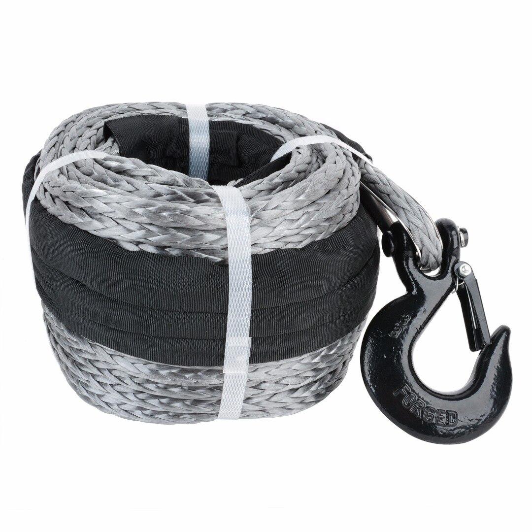 10 мм X 30 м синтетическая лебедка для автомобиля веревочный крюк буксировочный кабель для восстановления троса буксировочные тросы буксиров