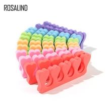 ROSALIND 1 Pair Same Color Toe finger nail art Separators Soft Sponge Nail Art Tools of Manicure Pedicure