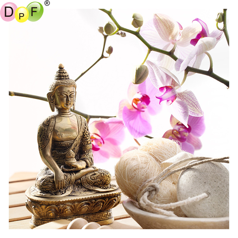 DPF The female Buddha <font><b>rice</b></font> cakes 5D diamond painting cross stitch home decor diamond mosaic square diamond embroidery needlework